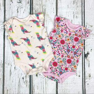 Rosie Pope Bodysuit Bundle Parrot Floral 6-9 Mos